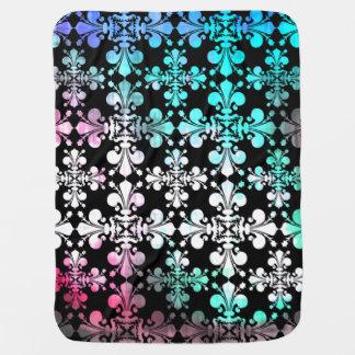 Fleur de lis | Multicolored pattern Stroller Blanket