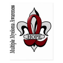 Fleur De Lis Multiple Myeloma Hope Postcard