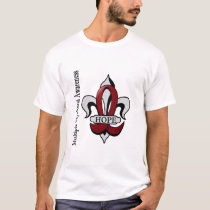 Fleur De Lis Multiple Myeloma Hope T-Shirt