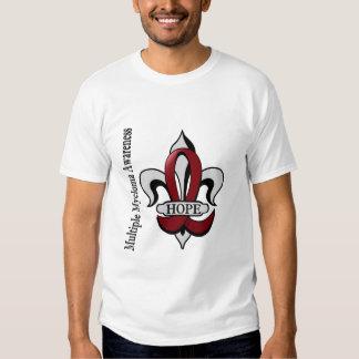 Fleur De Lis Multiple Myeloma Hope T Shirts