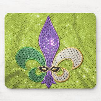 Fleur De Lis  New Orleans Jewel Sparkle Mouse Pad