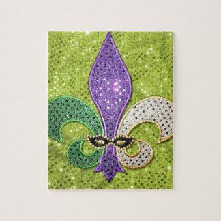 Fleur De Lis  New Orleans Jewel Sparkle Jigsaw Puzzle