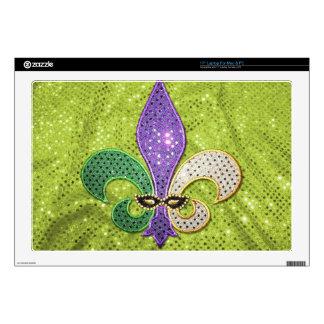 Fleur De Lis  New Orleans Jewel Sparkle Skins For Laptops