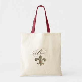 Fleur de lis NOLA Bride Bling Tote Bag