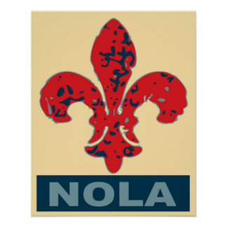 Fleur De Lis NOLa Poster