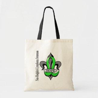 Fleur De Lis Non-Hodgkin's Lymphoma Hope Budget Tote Bag