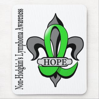 Fleur De Lis Non-Hodgkin's Lymphoma Hope Mouse Pad