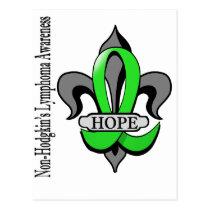 Fleur De Lis Non-Hodgkin's Lymphoma Hope Postcard