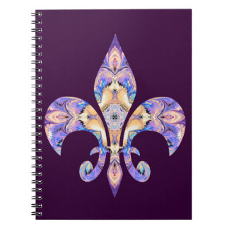 Fleur de lis Notebook in Purple and Gold
