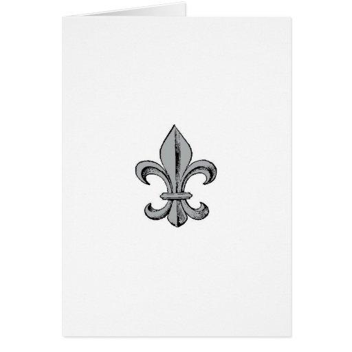 Fleur de Lis Notecard Card