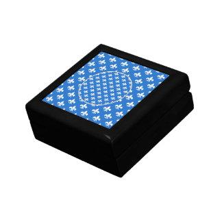 Fleur-de-lis on Blue Gift Boxes