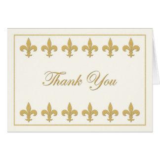 Fleur-de-lis on Creamy White Thank You Card
