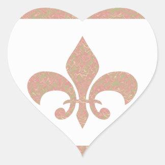 Fleur de Lis - on NOVINO Artistic Jewel Patterns Heart Sticker