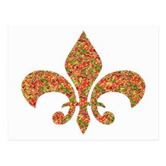 Fleur de Lis - on NOVINO Artistic Jewel Patterns Postcards