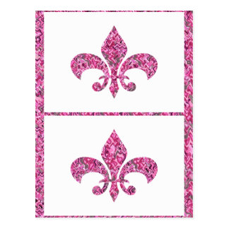 Fleur de Lis - on NOVINO Artistic Jewel Patterns Post Cards