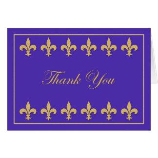 Fleur-de-lis on Royal Blue Thank You Card