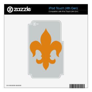 Fleur De Lis - Orange iPod Touch 4G Skins