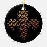 Fleur-de-lis Double-Sided Ceramic Round Christmas Ornament