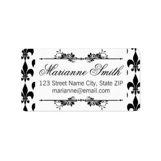 """""""Fleur-de-lis"""" Ornate Labels"""