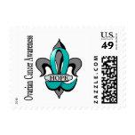 Fleur De Lis Ovarian Cancer Hope Postage Stamp