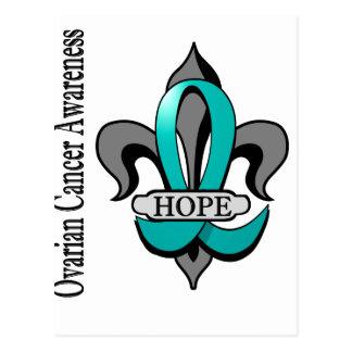 Fleur De Lis Ovarian Cancer Hope Postcard