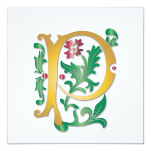 Fleur-de-lis P Monogram Card