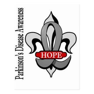 Fleur De Lis Parkinson's Disease Hope Postcard
