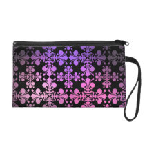 Fleur De Lis pattern beautiful colors Wristlet Purse