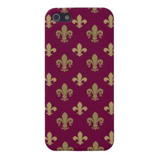 Fleur de lis pattern case for iPhone SE/5/5s