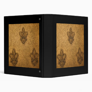 Fleur-de-Lis Pattern | French Mardi Gras 3 Ring Binder