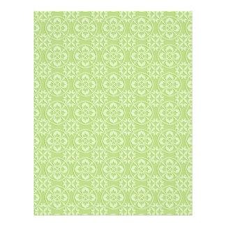 Fleur De Lis Pattern in Apple Green Flyer