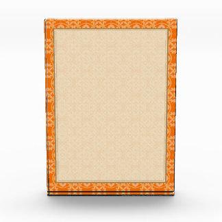 Fleur De Lis Pattern in Orange Award