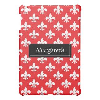 Fleur-de-lis pattern on Red iPad Mini Covers