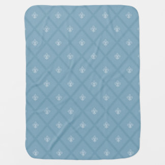 Fleur-de-lis pattern receiving blanket