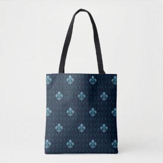 Fleur De Lis Pattern Tote Bag