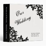 Fleur de Lis Pattern Wedding Planner Vinyl Binder