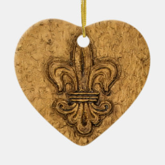 Fleur de Lis | Personalized Christmas Ceramic Ornament