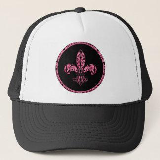 Fleur de lis Pink Apparel Trucker Hat