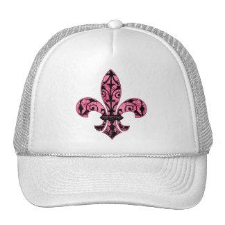 Fleur de lis Pink Gifts Hat
