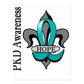 Fleur De Lis PKD Hope Postcard