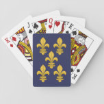 """Fleur-de-lis Playing Cards<br><div class=""""desc"""">Heraldic device of the French monarchy and symbol of the Virgin Mary,  the fleur-de-lis can be found on many medieval and modern coats-of-arms.</div>"""