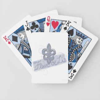 Fleur de Lis Playing Cards Hand Drawn