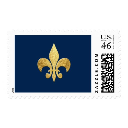 Fleur-de-lis Postage Stamps