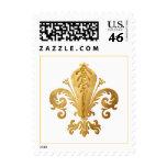 Fleur-de-lis Postage Stamp