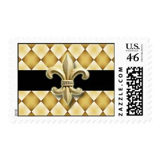 Fleur de Lis postage stamp