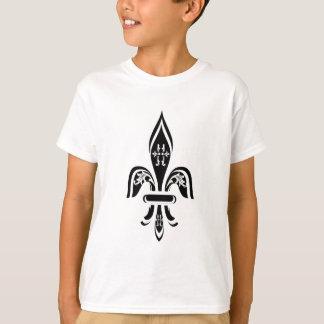 FLEUR DE LIS PRINT IN BLACK AND WHITE T-Shirt