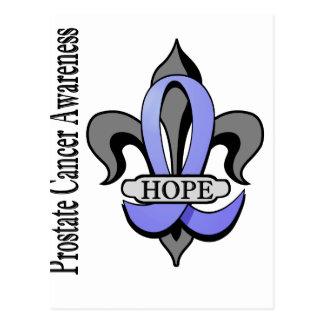 Fleur De Lis Prostate Cancer Hope Postcard