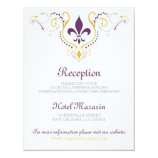 Fleur de Lis Reception Card