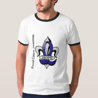 Fleur De Lis Rectal Cancer Hope T-Shirt