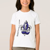 Fleur De Lis Rectal Cancer Hope T-Shirt